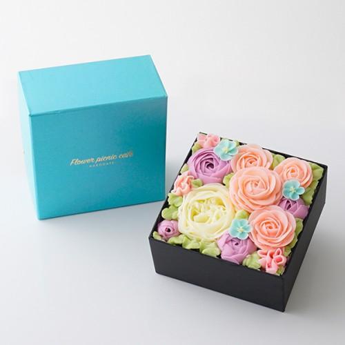 オリジナルボックスフラワーケーキ ~Spring Colors~