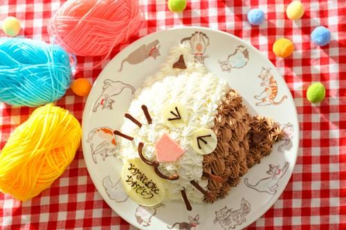 猫立体ケーキ 5号 15cm
