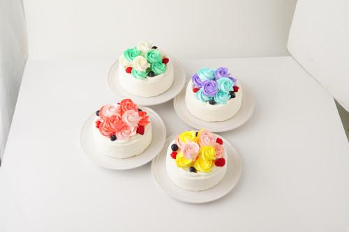 バラのショートケーキ 5号 15cm