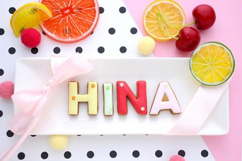 【神宿公式コラボ商品】HINA(ひなぷぅ) アルファベットアイシングクッキー