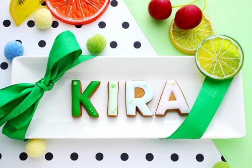 【神宿公式コラボ商品】KIRA(しおみぃ) アルファベットアイシングクッキー