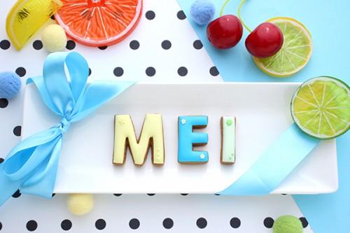 【神宿公式コラボ商品】MEI(めいりん) アルファベットアイシングクッキー
