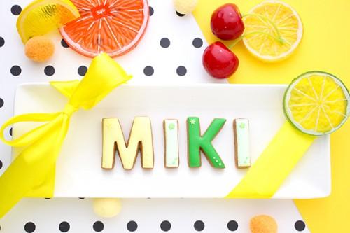 【神宿公式コラボ商品】MIKI(みーにゃん) アルファベットアイシングクッキー