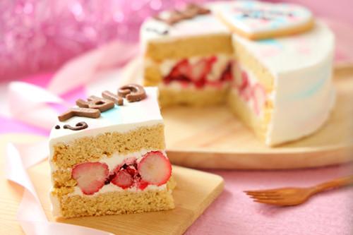 低糖質ケーキ ジェンダーリビールケーキ 女の子用 ストロベリー