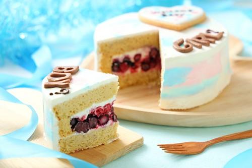 低糖質ケーキ ジェンダーリビールケーキ 男の子用 ブルーベリー