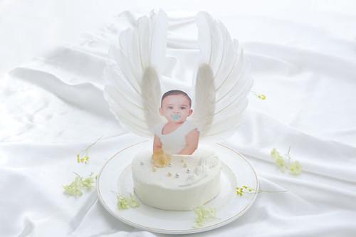 天使のケーキ ファーストバースデー4号サイズ