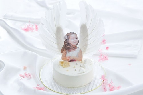 天使のケーキ 生クリーム 4号サイズ