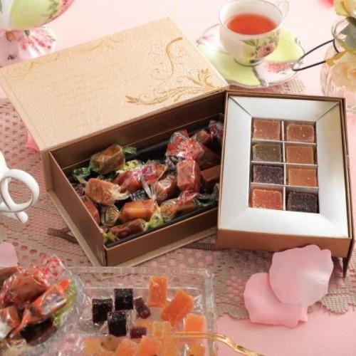 ラフィネの宝石箱 アソート2段BOX ( パート・ドゥ・フリュイ 8粒 + キャラメル 16粒 )