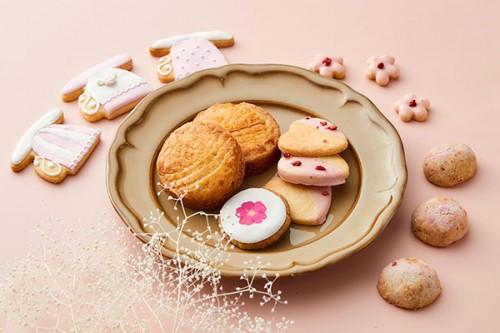 【クッキー缶】焼き菓子 & アイシングクッキー の ギフトセット / パステルピンク