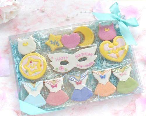 【美少女セーラー】アイシングクッキー/ 誕生日ギフトセット