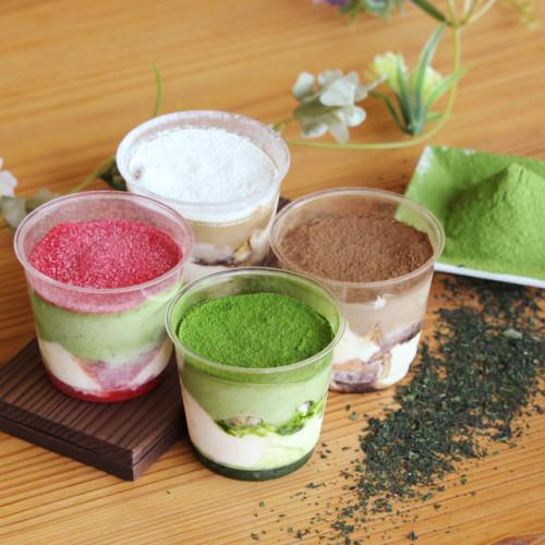 【d:essert】Tea tiramisu/ 濃厚茶葉のティラミス4種食べ比べセット(抹茶・ほうじ茶・和紅茶レモン・ミックスベリー抹茶味)