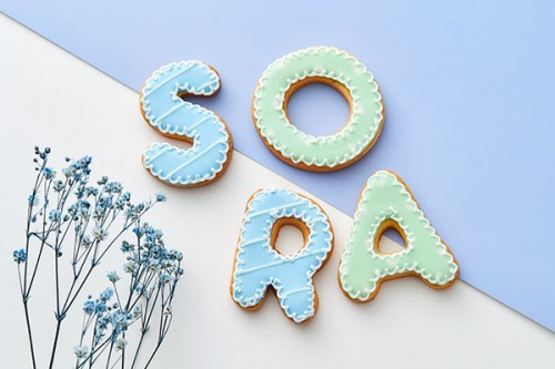 【アルファベット&数字】アイシングクッキー!2枚セット