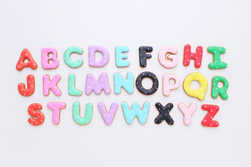 アルファベットアイシングクッキー1枚