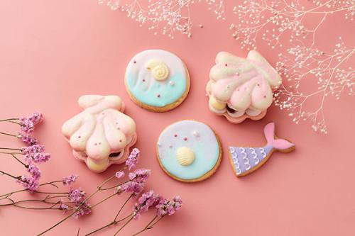 【夏のマーメイドセット】トゥンカロン(韓国マカロン)・アイシングクッキー