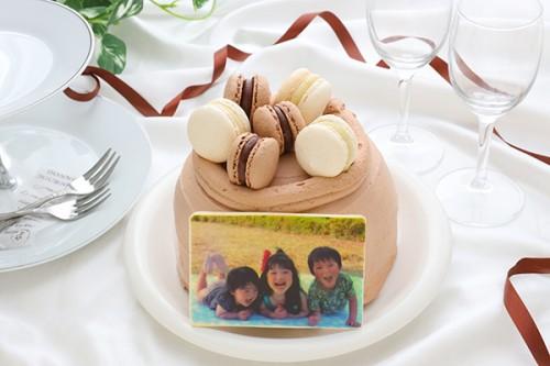 ショコラマカロンケーキ 4号 写真あり
