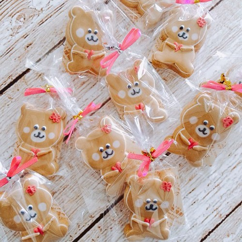 ハートぎゅっ!くまちゃんアイシングクッキー