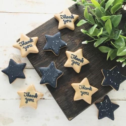 プチギフトに【アイシングクッキー】星型アイシングクッキー2枚組×5セット(星空バージョン)