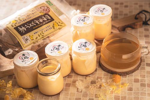 幸福(しあわせ)ぷりん 定番 とカワラケツメイ茶のギフトセット