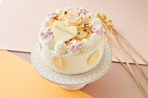 マンゴーのお花ケーキ 4号 12cm