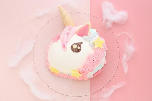 ユニコーンケーキ立体3D