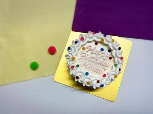 カラフル可愛い!パーティーセンイルケーキ 生クリーム 5号 15cm