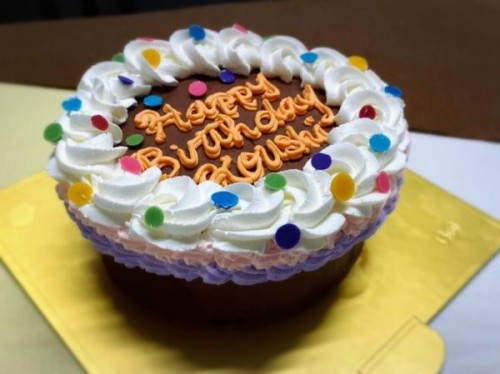 カラフル可愛い!パーティセンイルケーキ チョコ 5号 15cm
