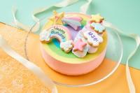 レインボーレアチーズケーキ