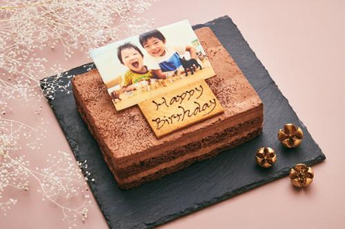 低糖質ケーキ 砂糖不使用! 写真ケーキ ムースショコラ 13.5x11cm 4.5号