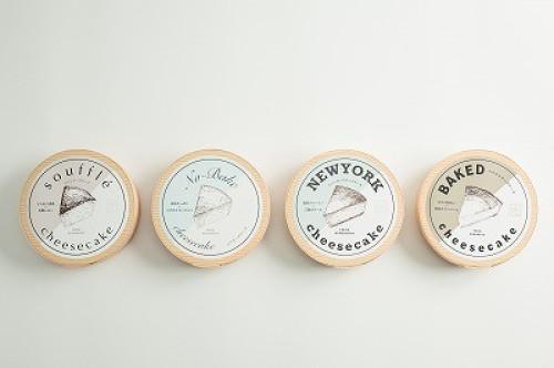 776CHEESECAKE【スフレ×レア×NY×ベイクド】 4号 12cm 全部セット(4種類)+オリジナル保冷袋付き こだわりの熊本産食材で作り上げた
