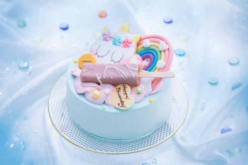【美味しい】ゆめかわユニコーンケーキ 5号