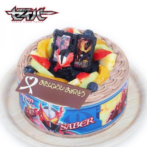 キャラデコお祝いケーキ 仮面ライダーセイバー 生チョコクリームショートケーキ 5号 15cm 4~6名様用 cd-saber-choco