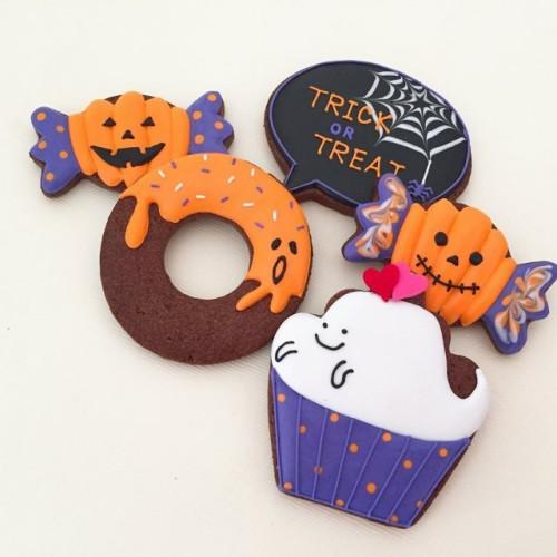 【アイシングクッキー】お菓子なハロウィンアイシングクッキー5枚セット ハロウィン2021