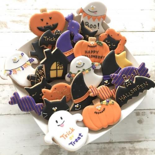 【アイシングクッキー】ハロウィンアイシングクッキー21種25枚入り ハロウィン2021