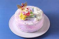クリスマスケーキ2020 パステルマーブルレインボーケーキ 5号 15cm
