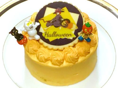 イラストクッキーハロウィンかぼちゃケーキ 4号 12cm【ハロウィン2021】
