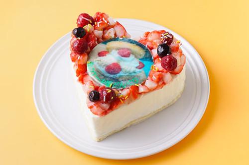 写真アイスクリームデコレーション 5号 15cm バニラ・苺・チョコの3種類から選べます。※写真はバニラアイス5号です。
