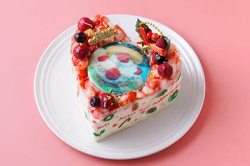 クリスマス2020 写真アイスクリームデコレーション 5号 15cm バニラ・苺・チョコの3種類から選べます。