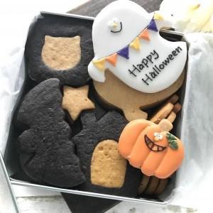 【アイシングクッキー缶】ハロウィンアイシングクッキー缶 ハロウィン2021