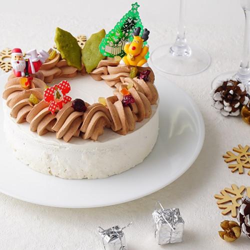 クリスマスケーキ2020 卵・乳製品・小麦粉除去可能 クリスマス限定チョコレート ホールケーキ 15cm