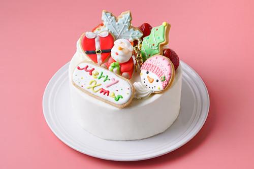 クリスマスケーキ2020 アイシングデコレーション 純生クリーム苺デコ5号 15㎝<br>【数量限定】完売の際はご了承ください