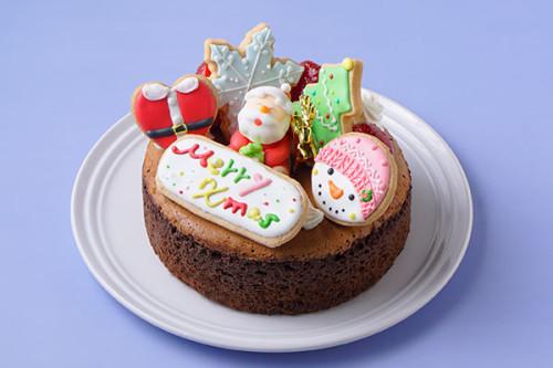 クリスマスケーキ2020 オリジナルアイシングデコとろけるショコラ5号 15㎝<br>【数量限定】完売の際はご了承ください