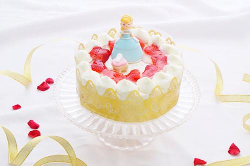 乳製品・小麦粉除去可能 シンデレラ 生デコレーションケーキ  5号 15cm