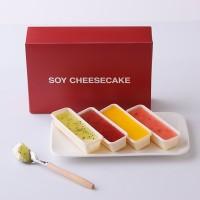 SOY CHEESECAKE レアチーズケーキ 4種セット(あまおう、ブルーベリー、キウイ、マンゴー)