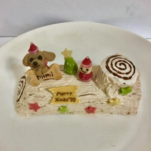 クリスマス2020 愛犬用ケーキ ブッシュドノエル風1匹