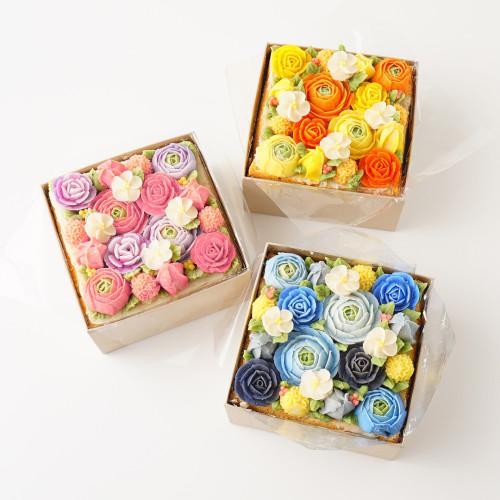 フラワーボックスケーキ定型(あんクリーム)