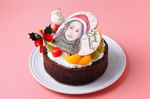 クリスマスケーキ2020 似顔絵ガトーショコラ 5号 15cm