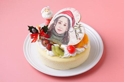 クリスマスケーキ2020 似顔絵スフレチーズケーキ 5号 15cm