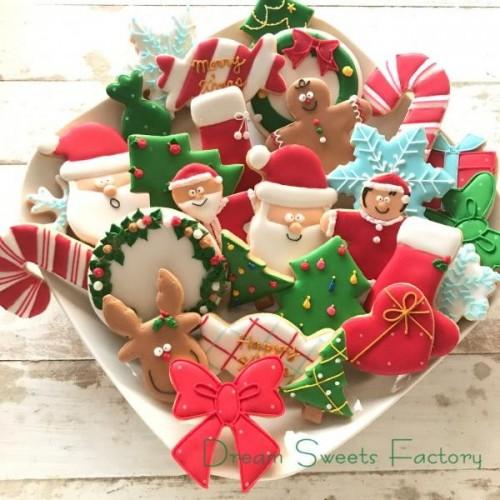 【アイシングクッキー】クリスマスアドベントアイシングクッキー24袋セット