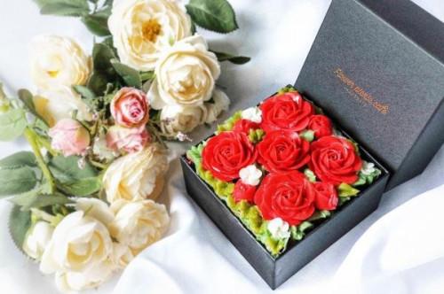 『食べられるお花のケーキ』【Shining Red】Anniversary