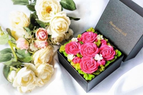 『食べられるお花のケーキ』【Elegant Pink】Anniversary